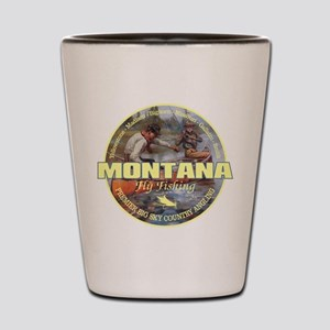 Montana Fly Fishing Shot Glass