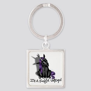Ima Fuckin Unicorn /Black Square Keychain