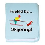 Fueled by Skijoring baby blanket