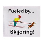Fueled by Skijoring Throw Blanket