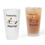 Fueled by Skijoring Drinking Glass