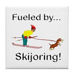 Fueled by Skijoring Tile Coaster