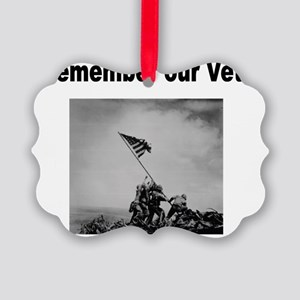 Remember Our Vets Picture Ornament