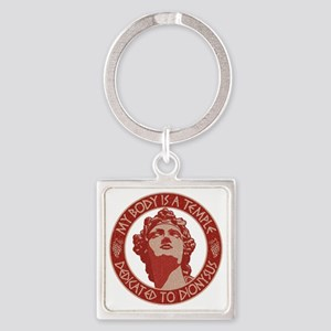 dionysus-temple-T Square Keychain