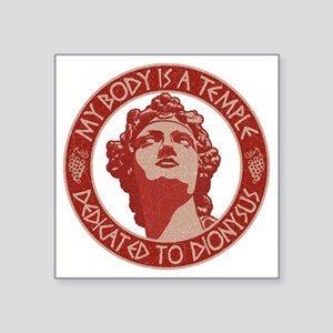 "dionysus-temple-T Square Sticker 3"" x 3"""