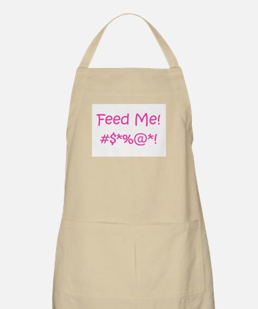 'Feed Me!' (pink letters) BBQ / Kitchen Apron