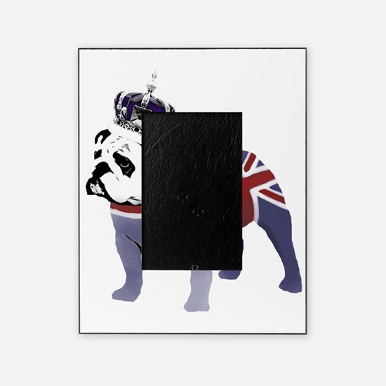 English Bulldog and Crown Picture Frame