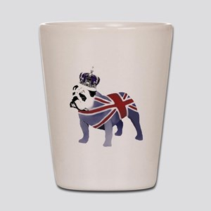 English Bulldog and Crown Shot Glass