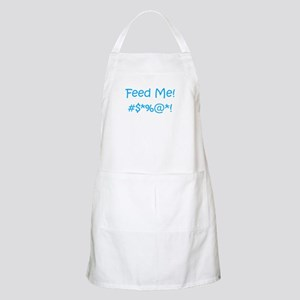 'Feed Me!' (blue letters) BBQ / Kitchen Apron