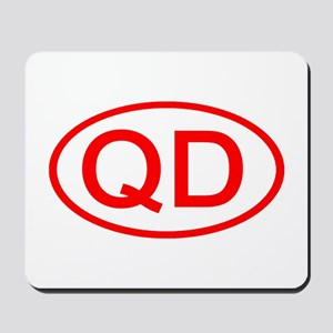 QD Oval (Red) Mousepad