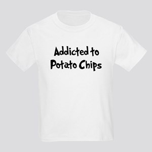 Addicted to Potato Chips Kids Light T-Shirt