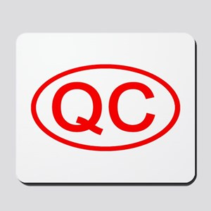 QC Oval (Red) Mousepad