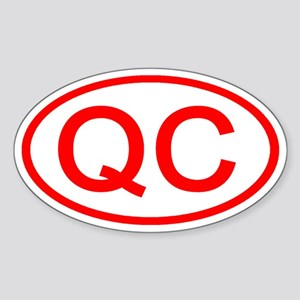 QC Oval (Red) Oval Sticker