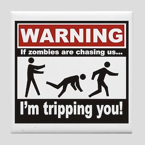 Zombie Trip Tile Coaster