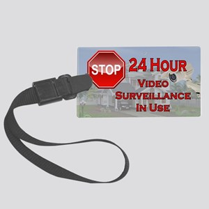 Stop - Video Surveillance Large Luggage Tag