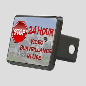 Stop - Video Surveillance Rectangular Hitch Cover