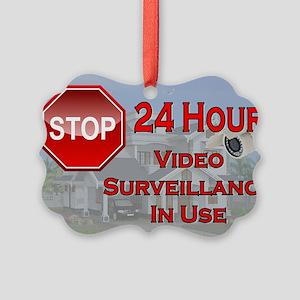 Stop - Video Surveillance Picture Ornament