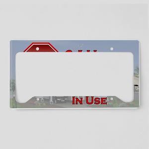 Stop - Video Surveillance License Plate Holder