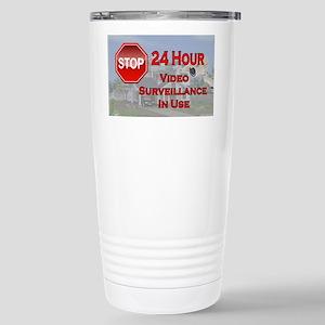 Stop - Video Surveillan Stainless Steel Travel Mug