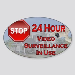Stop - Video Surveillance Sticker (Oval)