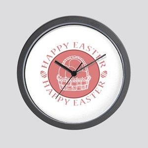 Easter Eggs in a Basket Wall Clock