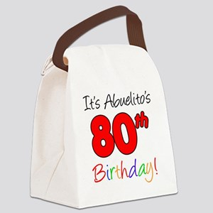 Abuelitos 80th Birthday Canvas Lunch Bag