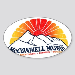 McConnell Music Sticker (Oval)