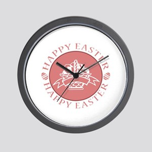 Easter Eggs in Basket II Wall Clock