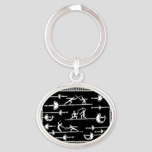 Blade Dancing Oval Keychain