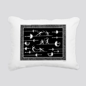 Blade Dancing Rectangular Canvas Pillow
