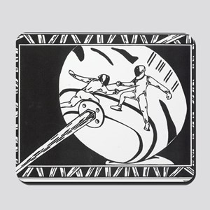 Fencing Reflection Mousepad