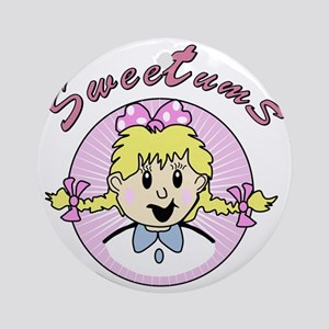 sweetums Round Ornament