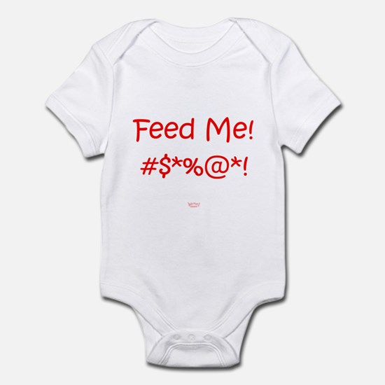 'Feed Me!' (red letters) Infant Bodysuit/Creeper