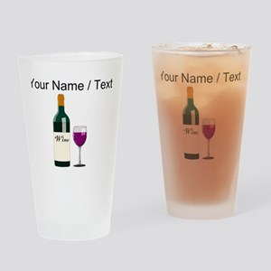 Custom Wine Bottle And Wine Drinking Glass