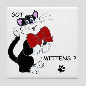 Mr. Mittens Tile Coaster