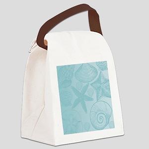 Aqua shells Canvas Lunch Bag