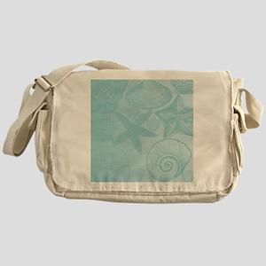 Aqua shells Messenger Bag