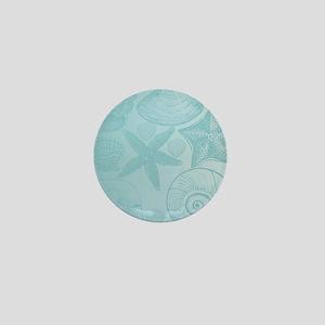 Aqua shells Mini Button