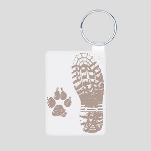 Take a hike Boot n Paw Aluminum Photo Keychain