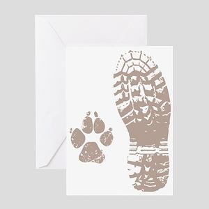 Take a hike Boot n Paw Greeting Card