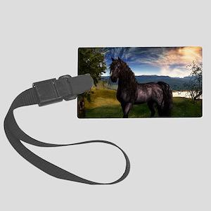 Freisian Horse Large Luggage Tag