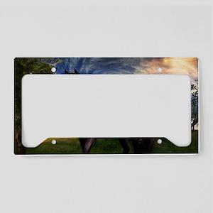 Freisian Horse License Plate Holder