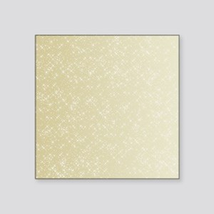 "Gold sparkles Square Sticker 3"" x 3"""