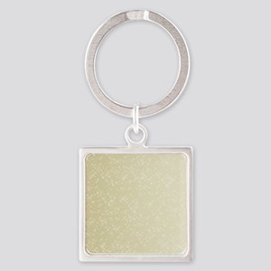 Gold sparkles Square Keychain
