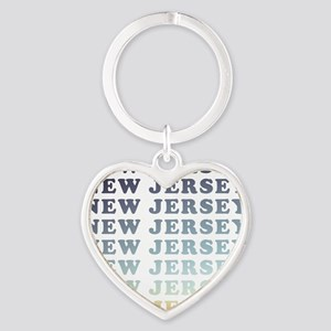 new jersey Heart Keychain