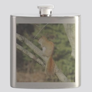 Red Squirrel Flask