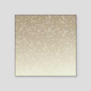 "Cream Sparkles Square Sticker 3"" x 3"""