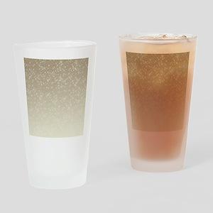 Cream Sparkles Drinking Glass