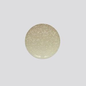 Cream Sparkles Mini Button