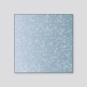 "Sparkling Blue Square Sticker 3"" x 3"""